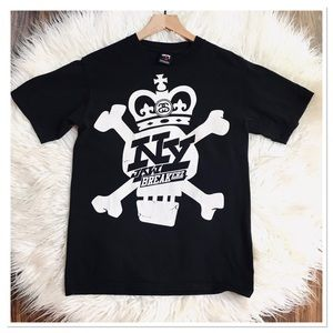 Stussy New York Jaw Breakerz Skull Graphic T Shirt